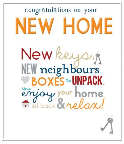 Congratulations On Your New home  Code 75 x 6
